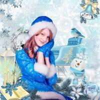 Non traditional Christmas noel blue