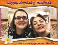 HAPPY BIRTHDAY MELINDA 2019