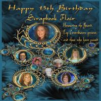 HAPPY 13TH BIRTHDAY SCRAPBOOK FLAIR  #2