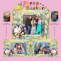 Easter with Grandma n Grandpa