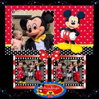 Cooper meets Mickey and Minnie Mouse