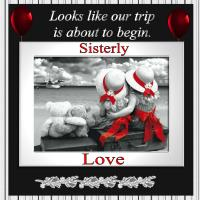 Black & White - Sisterly Love going on a Trip