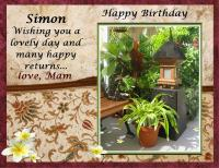 SIMONS BIRTHDAY CARD 2019