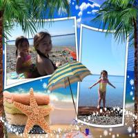 Sisters enjoying the beach!