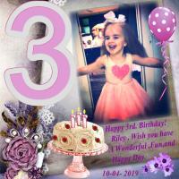 Happy 3rd. Birthday, Riley