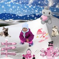 Winter Scene in White Sands New Mexico