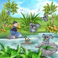 Scrap A Page - koala