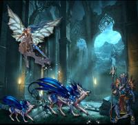 THE LAIR OF THE BLUE MANED WOLVES