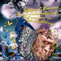 BUTTERFLIES CAN'T SEE THEIR WINGS