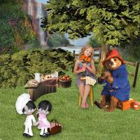Paddington Bear goes on a Picnic