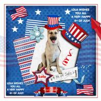 Lola wishes everyone a Happy 4th Of July!!!