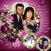 Largie Mask-59th. Wedding Anniversary